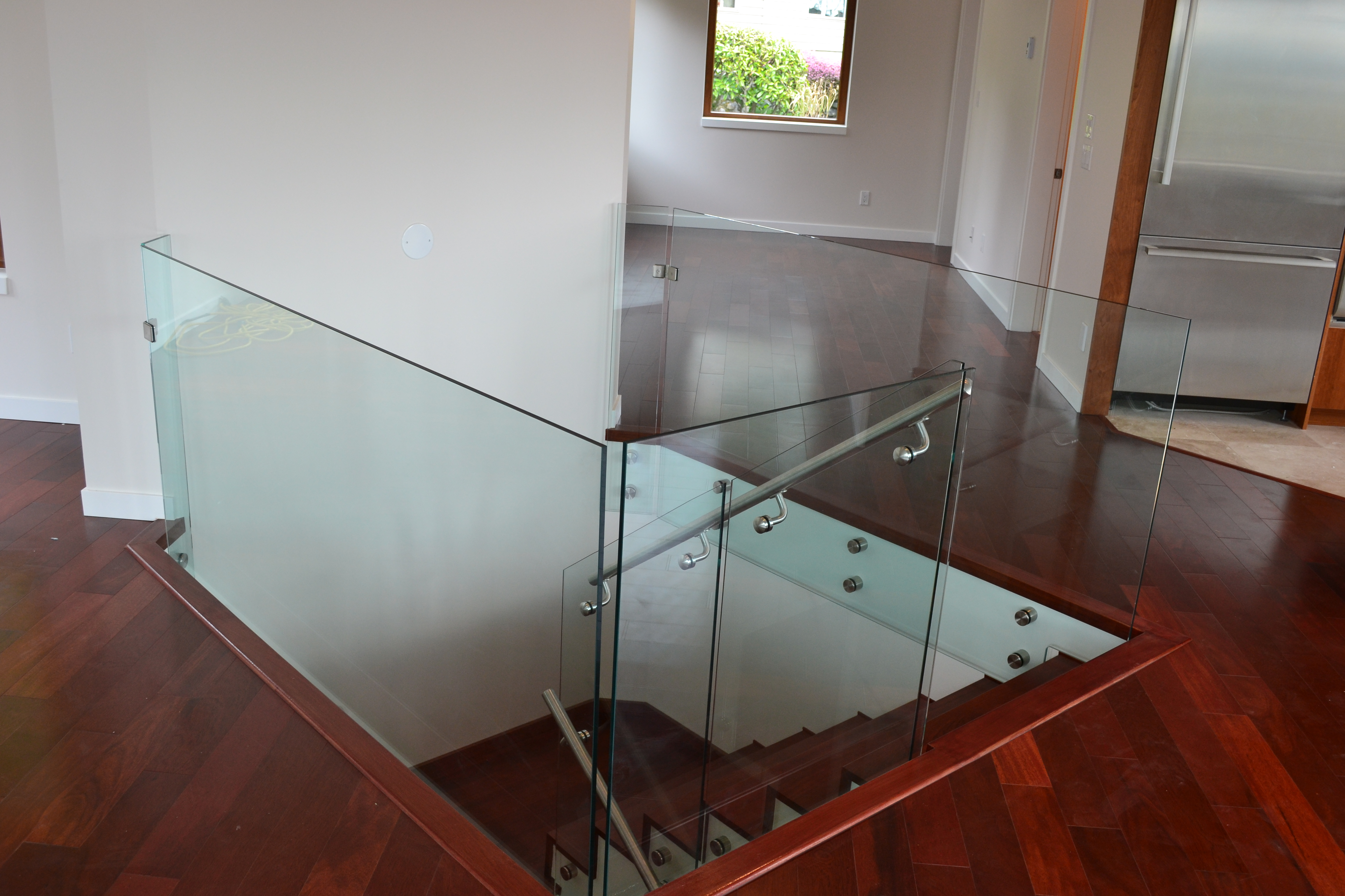 Interior Frameless Glass Railings Standoffs Kristy